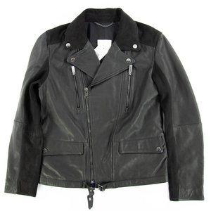 Mango Mans Casual Moto Leather Jacket Black Sz. Sm